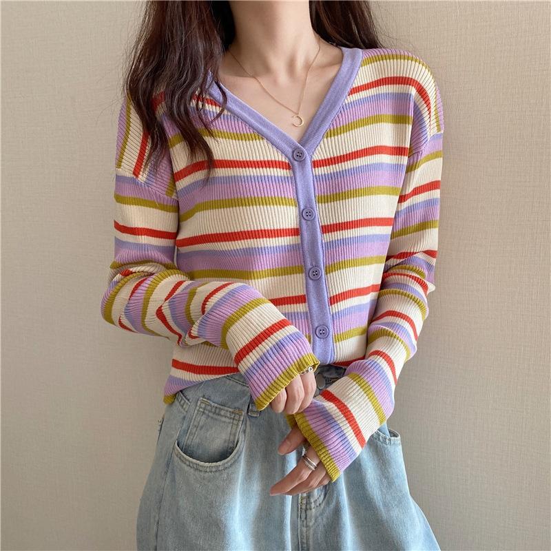 UpOW3 precoce autunno 2020 s nuovo stile Yafeng shirtair camicia coreana sciolto Top shirtAir condizionata superiore condizionata a strisce delle donne lunga estate