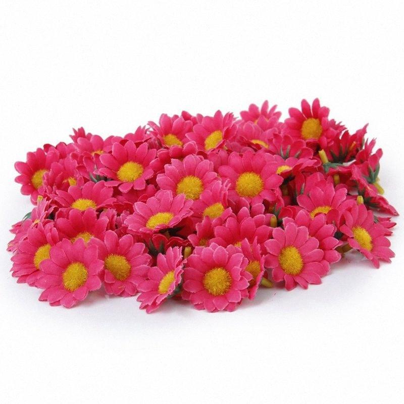 100 x Artificial Gerbera Flower Heads for The Wedding S4Ek#