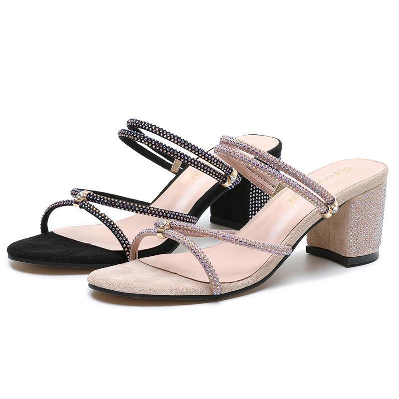 ----- Femmes d'été Open One Office Office High Talons Chaussures de sandale Dames Fashion Loisirs Court Boucle De Ceinture Buckle Boucle Sandales T200831