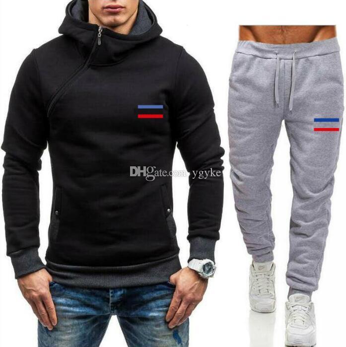 Venta caliente Conjunto de marca Sudaderas Sweatsuit Hombres Sudaderas con capucha Pantalones Para Hombre Ropa Sudadera Pullover Mujeres Casual Sport Tacksuit Traje de sudor 68098 #