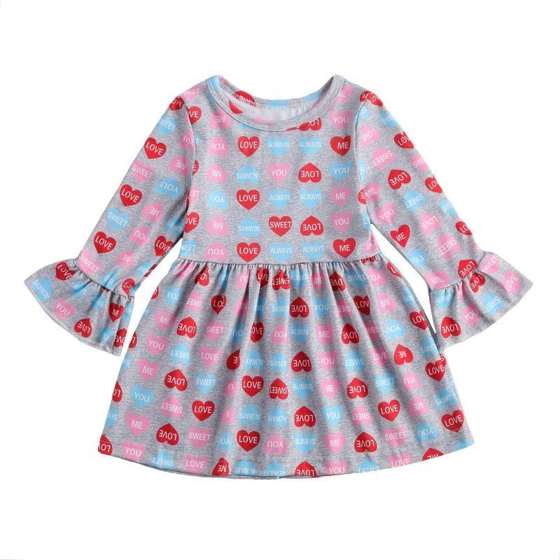 Vestido de niña con mangas largas de la letra de la letra de la letra de la princesa de la princesa bailando la ropa de fiesta
