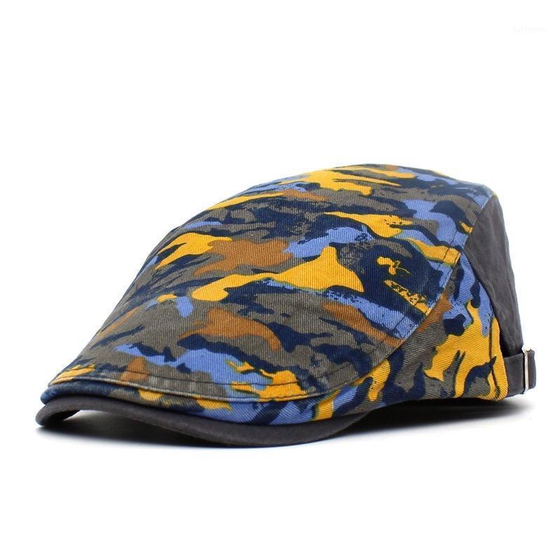 Moda Camuflaje Sombrero Hombre Hombres Sun Hat Golf Driving Cabbie Newsboy Flat Ivy Summer Cap Peaky Blinder Casquette Cap1