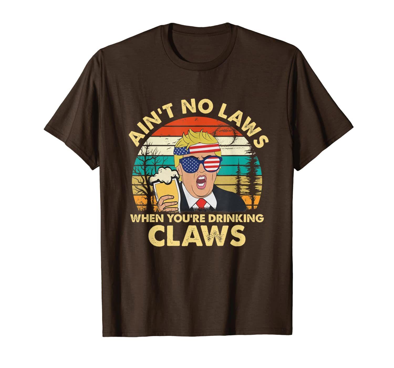 Урожай не законы, когда вы пьете когти забавную футболку