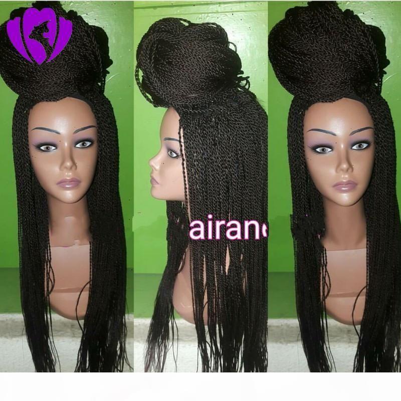 13 * 4 кружева Передние синтетические парики для черных женщин 24 дюйма Афро-американских плетеных плетеных черных париков Длинные судные кружевные передние парики волосы