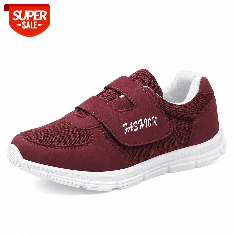 Zapatillas de deporte de las mujeres transpirables de verano zapatos para caminar de la malla al aire libre anti resbalón deportivo zapatos de correr Madre regalo Comfort Lights Flats # HC7R