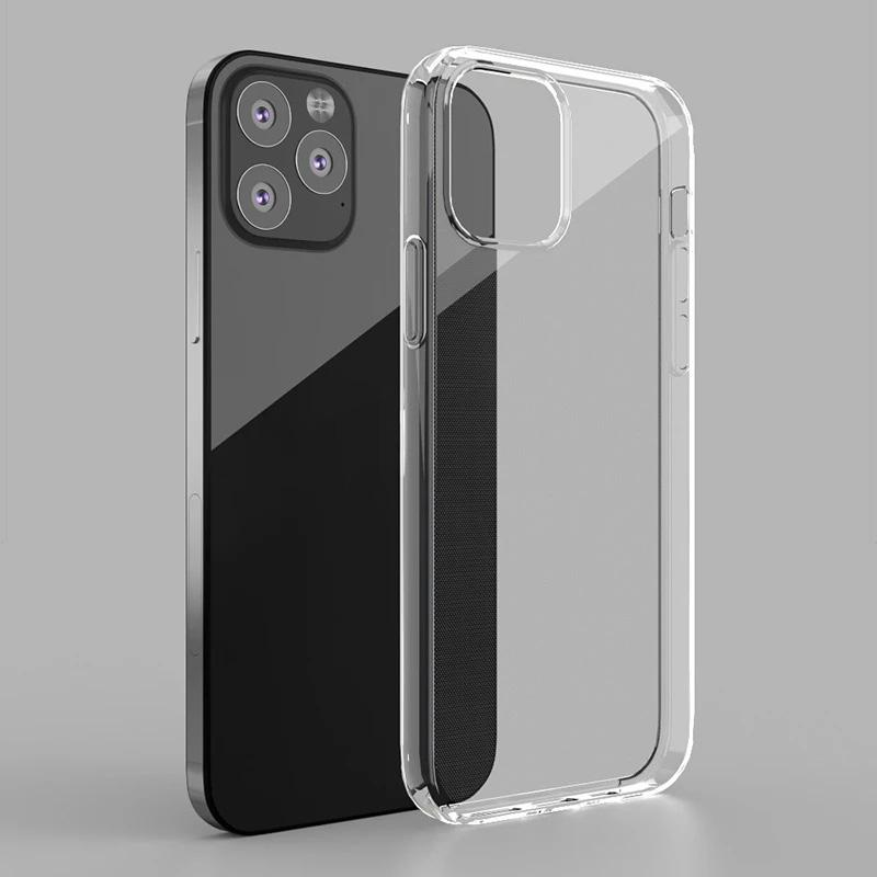Lusso chiaro TPU della cassa del telefono di iPhone 12 Mini 11 Pro Max 7 8 6 6s Inoltre 7plus 8plus X XS MAX XR trasparente SE 2 2020