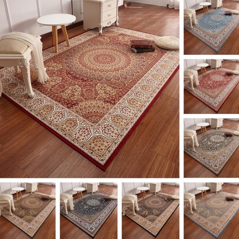 Tappeto persiano soggiorno domestico tappeto per la casa morbido tappeto turco tappeto camera da letto divano retrò tavolino da caffè tappeto tappeto tappeto studiarea1