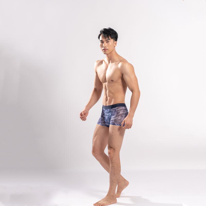 Erkek iç çamaşırı tasarımcıları moda nefes boksör külot külot modal cam erkek seksi sıkı bel-külot