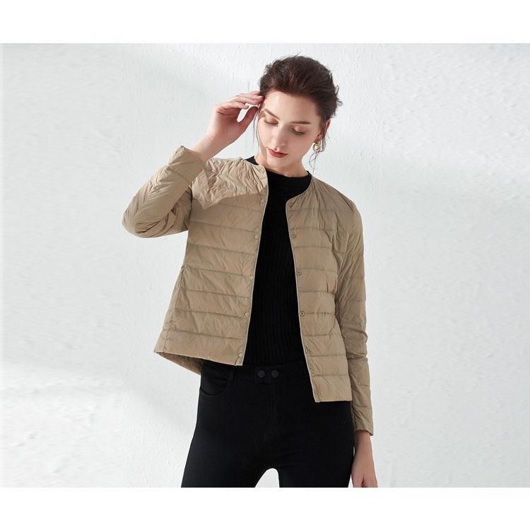 Donne giù parka colore solido di modo Giù cappotto sottili ragazze 2020 nuovi rivestimenti di modo delle donne casuali inverno Top 9 colori Asiatica Taglia