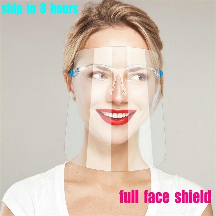 Masque de protection anti-brouillard de bouclier HD Adulte transparent 500pcs Full Face Splash-Splash Splash-Splash Protection anti-salive