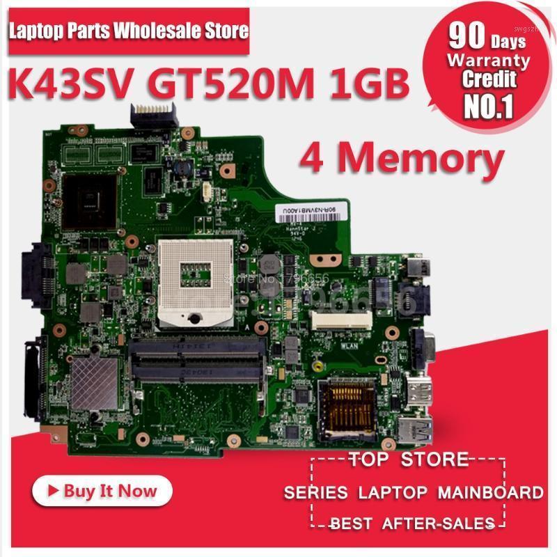 K43SV Motherboard GT520M 1GB For Asus A43S X43S K43SV K43SJ laptop Motherboard Mainboard1