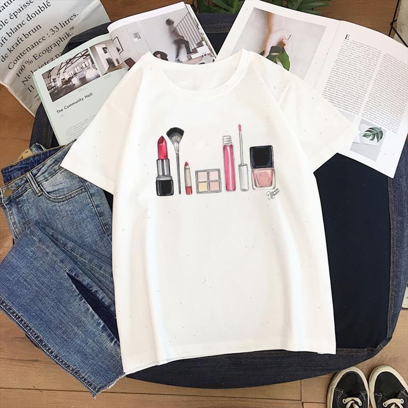 Fashion art lady cartoon print female Harajuku Tops tee New Summer sweet casual loose S 2XL Harajuku ulzzang womens clothing