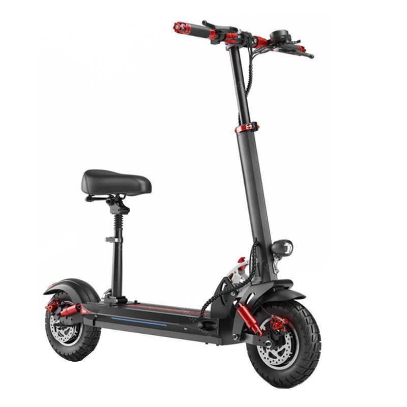 Neue elektrische Roller Erwachsene Zwei Räder Elektrische Roller MAX-Geschwindigkeit 45km / H 48V 1200W Faltbares Aff Road E Scooter-Bike