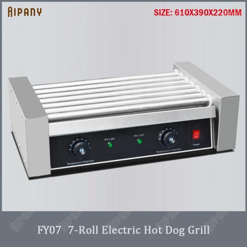 Camp Citchen FY05 Electric Dog Grill 5/7/9/11 Ролики колбасные коммерческие роликовые машины приготовления