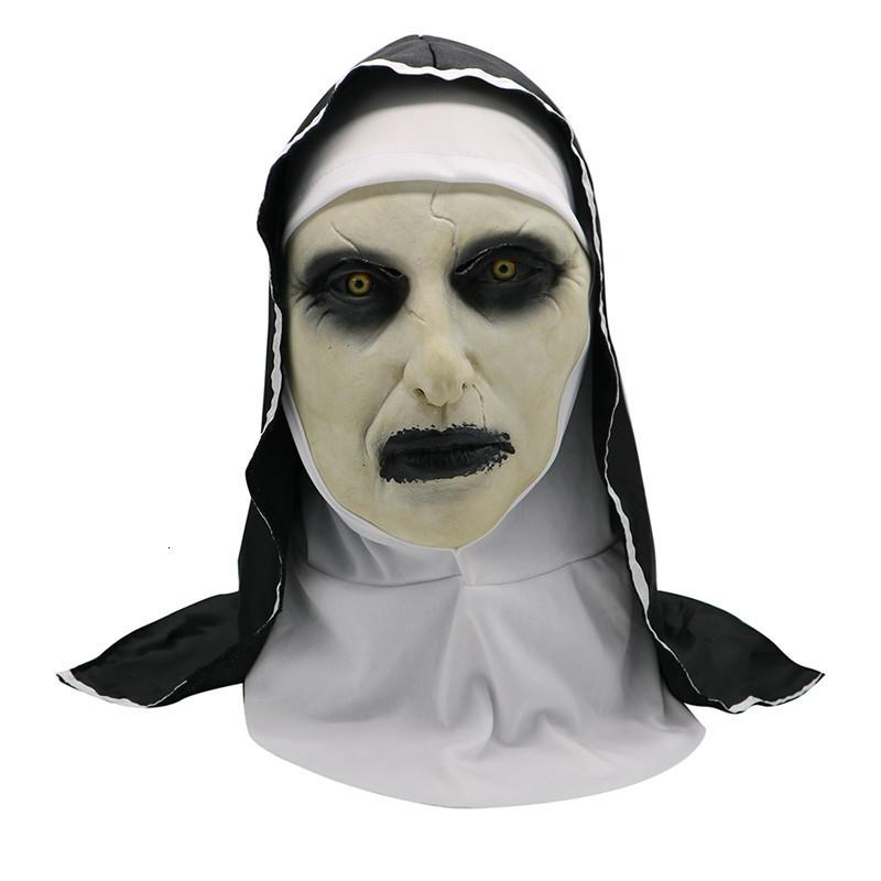 Scary The Nun Horror Mask Cosplay Valak Latex Masks Full Face Helmet Demon Halloween Party Costume Props New 1 ROFU1