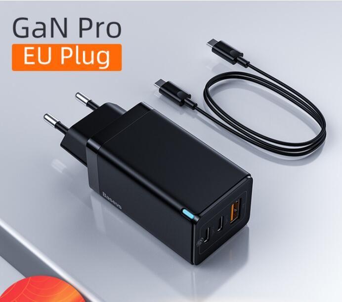Youpin Baseus GAN 65W USB C Зарядное устройство быстрое зарядное устройство 4.0 3.0 QC4.0 QC PD3.0 PD USB-C типа C Быстрое USB зарядное устройство для MacBook Pro iPhone Samsung