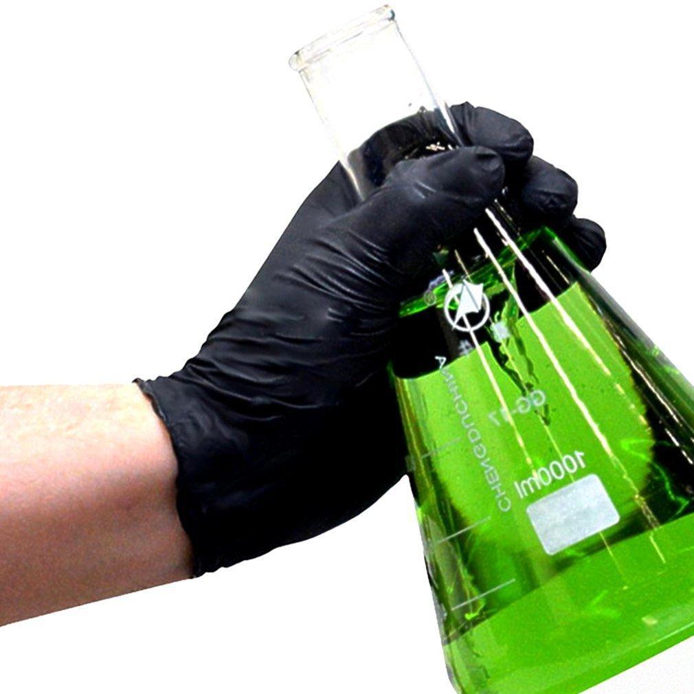 Koruyucu Siyah Tek kullanımlık eldivenler 100pcs Ev Temizlik Yıkama Eldivenler Nitril Laboratuvar Nail Art Dövme Anti-statik Eldiven Haberler