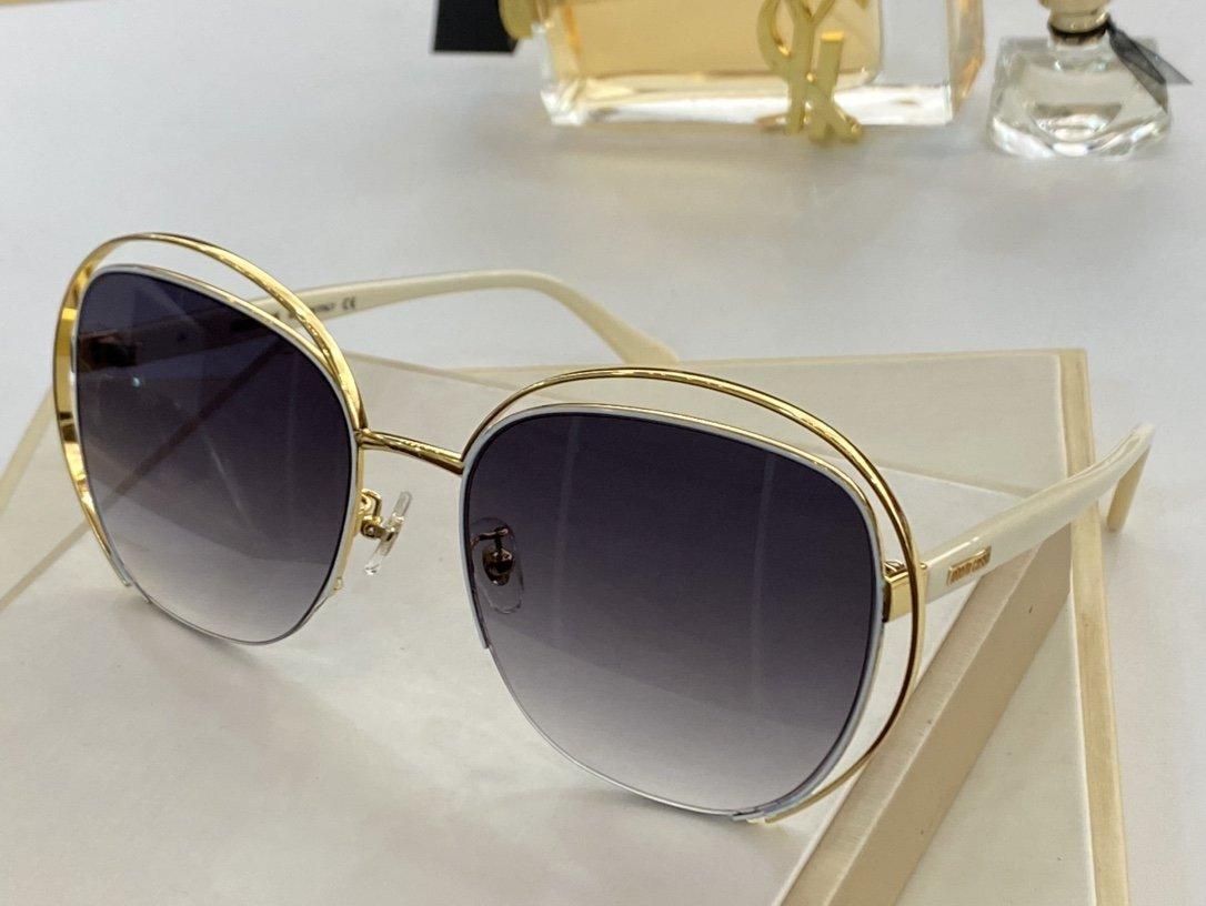 높은 품질 성격 디자인 유명 패션 진보적 인 렌즈는 2026 금속 프레임 장식 여성의 선글라스 타원형 안경 선글라스