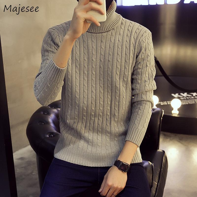 Suéter dos homens Homens Turtelneck Sólido Sólido tamanho grande 3xl chique moda adolescentes lazer estilo coreano harajuku trendy mens suéter ulzzang