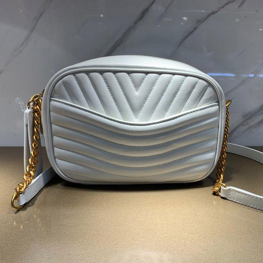 Nuevo estilo de billetera Complete Lujuurys Deasignes Calidad Bolsas de onda de Crossbody Bolsas Mujeres Top Bag Cámara con caja LJIPV