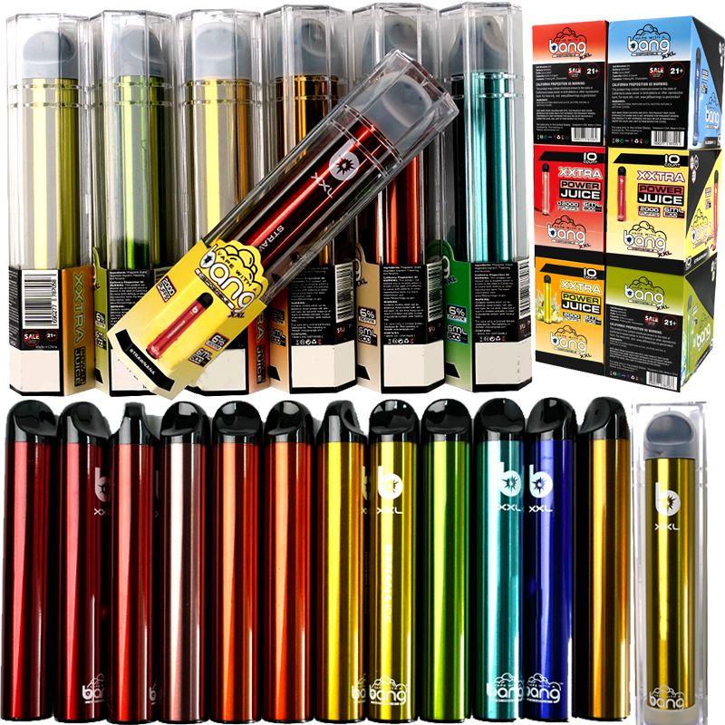 Livraison rapide 2000Puffs Bang XXL jetable Vape 6 ml Cartouche 800 mAh jetable E cigarettes appareil vide pods Kits de démarrage Vaporizer Pe