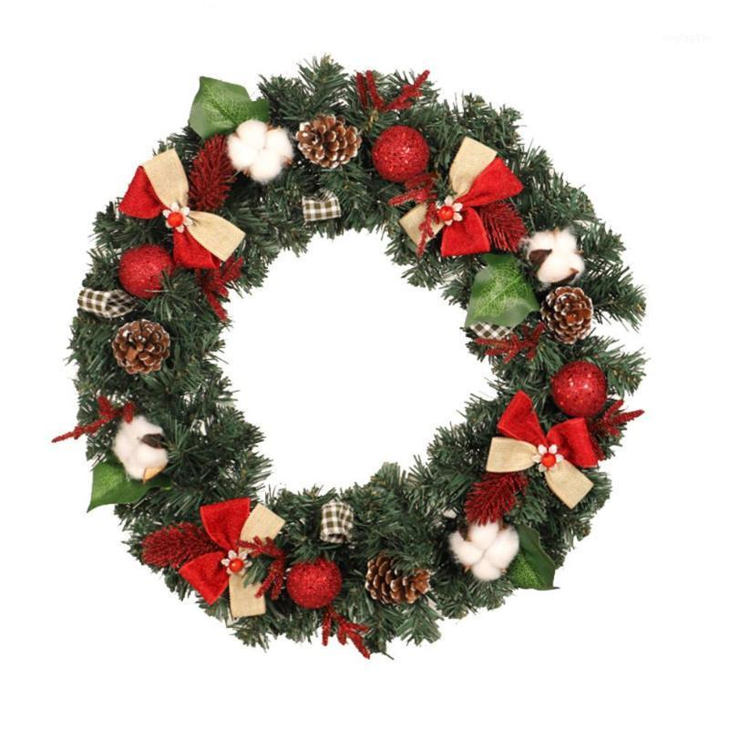 Рождественские украшения Искусственный круглый венок дверной висит камин декоративная гирлянда 30см / 40см / 50см украшения для дома 30e1