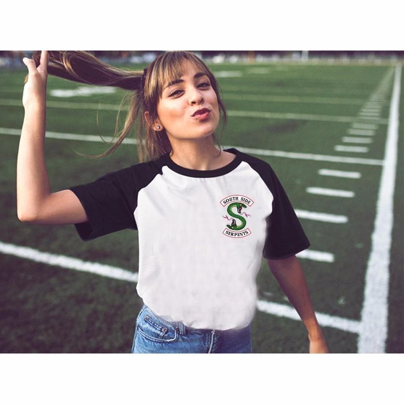 Nueva Riverdale Camisetas verano de las mujeres de Harajuku Estilo de manga corta camiseta chica Riverdale Southside serpientes remata tes Mujer Y200930