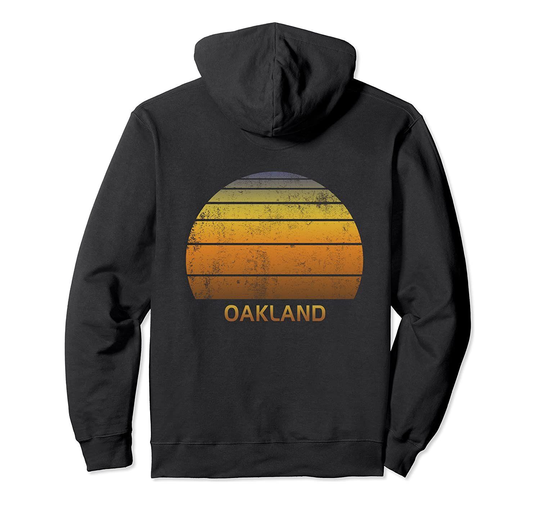 Renk Siyah / Gri / Lacivert / Kraliyet Mavi / Koyu Heather ile Oakland Kaliforniya Vintage Sunset Kazak Hoodie Unisex Boyut S-5XL