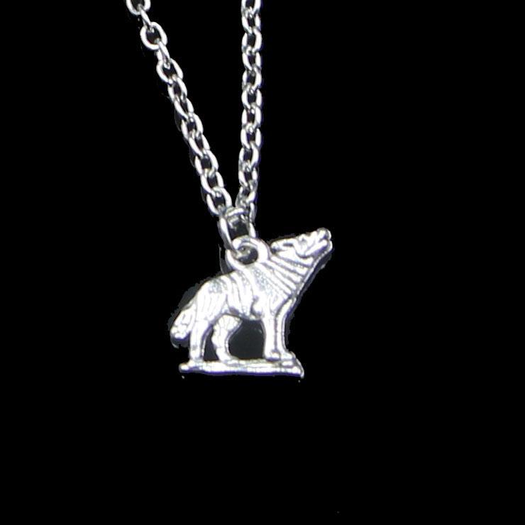 Fashion 15 * 15mm Hurlant Wolf Pendentif Collier Chaîne de lien pour collier de ruban rouge Femme Creative Bijoux Party cadeau