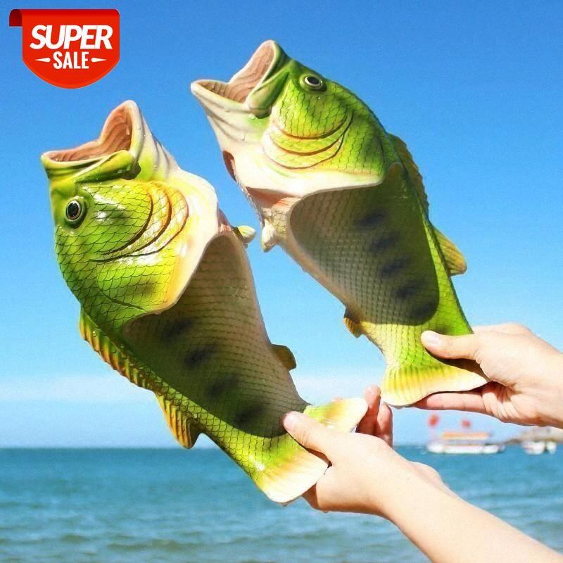 WEH slippers of fish men Slippers Unisex Designer Animal Slides Summer Flip Flops Boys Girls Funny Slippers women funny Shoes #go5X