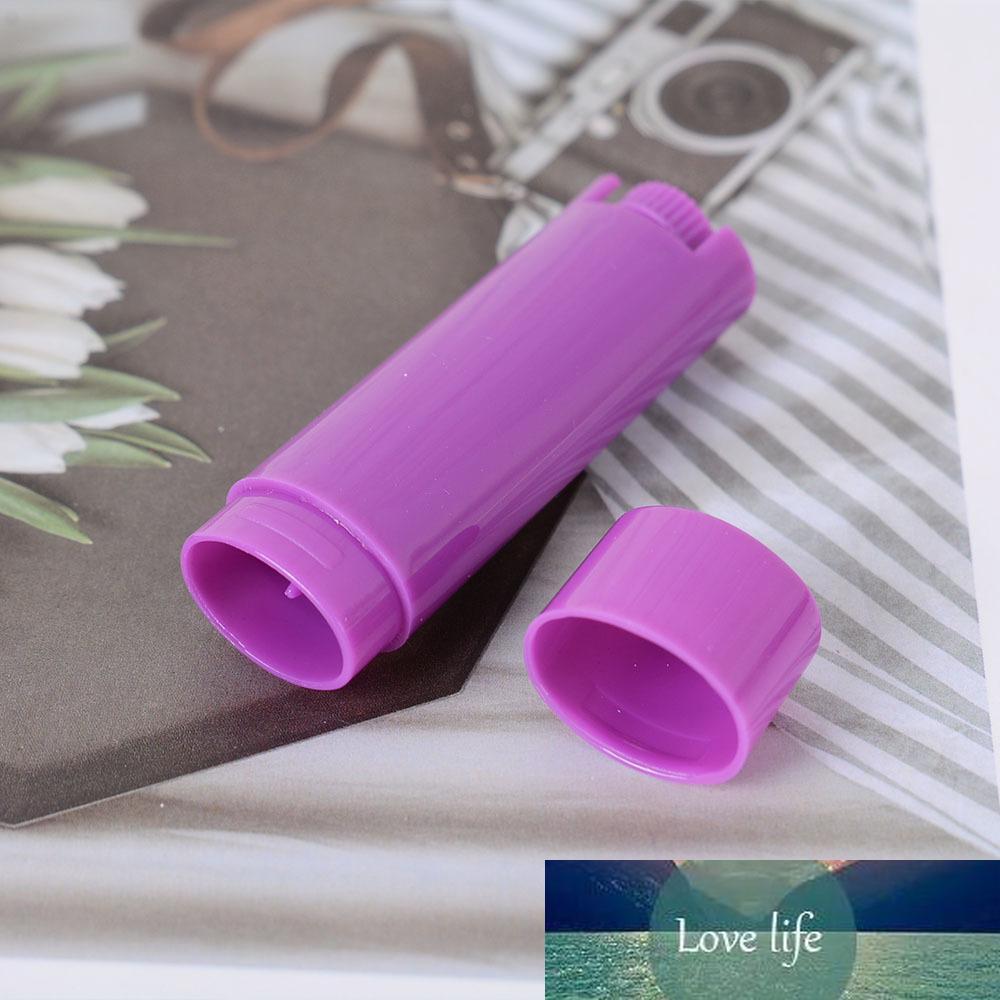 5 Stück Kunststoff leere ovale Lippenbalsamröhrchen Twist-up Deodorant