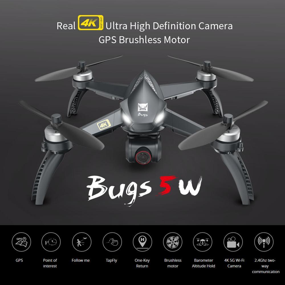 MJX B5W Drone GPS безщеточных ошибок 5G RC 2.4GHZ Quadcopter обновлен 4K Wi-Fi Dron FPV камера HD Auto Return 20 минут бессмысленные игрушки в 201208