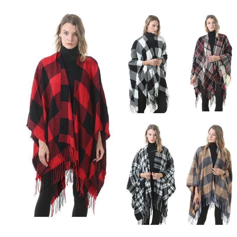 Atkılar 2021 Amazon Moda Klasik Kravat Boyalı Bölünmüş Şal LiuSudong Kalınlaşmış Kaşmir Fabrika Outlet