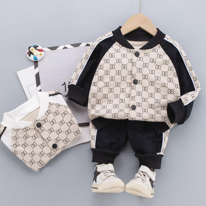 Autumn Children Clothing Boys Sets Tracksuit Baby Girls Clothes Casual Print Cotton Suit Costume For Kids