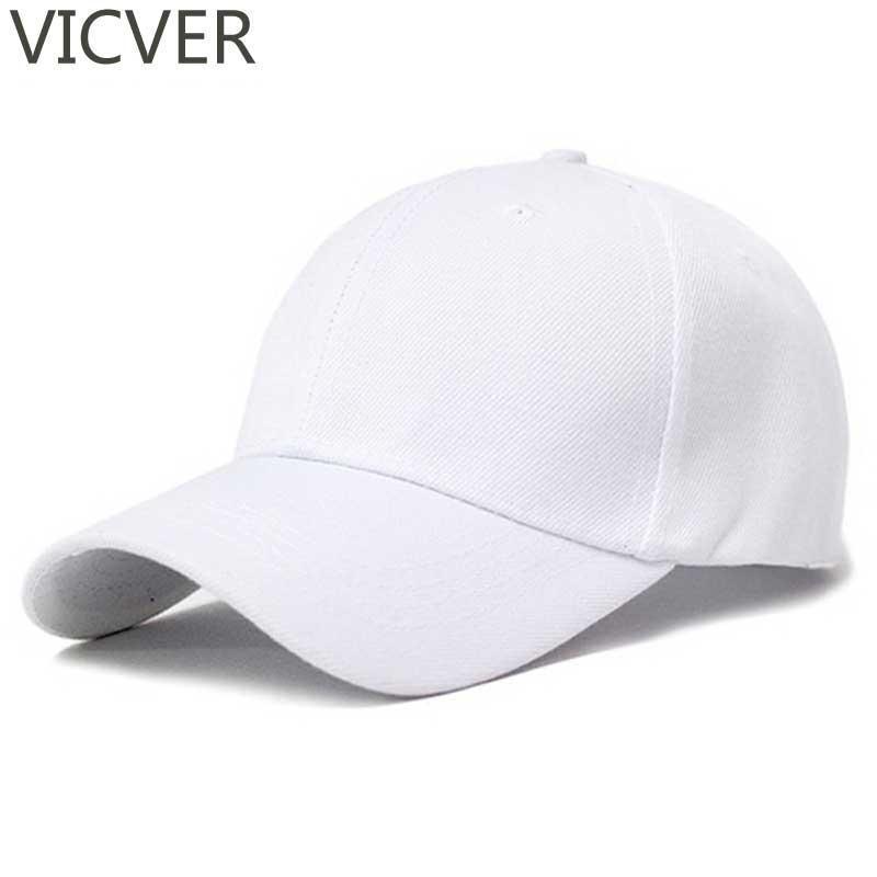 Dad Boné Snapback lona Bonés White Hat Mulheres Plain Men Verão Casual Sólidos Hip Hop Chapéus negros Golf ajustável
