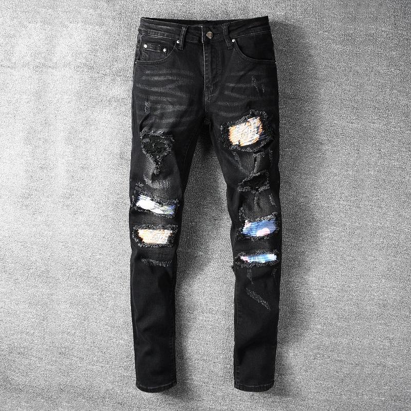 Мужские джинсы прибытия роскошный стиль искусства мужские мыть дизайн повседневные джинсы тонкие джинсы легкие джинсовые джинсовые джинсовые джинсы 29-40