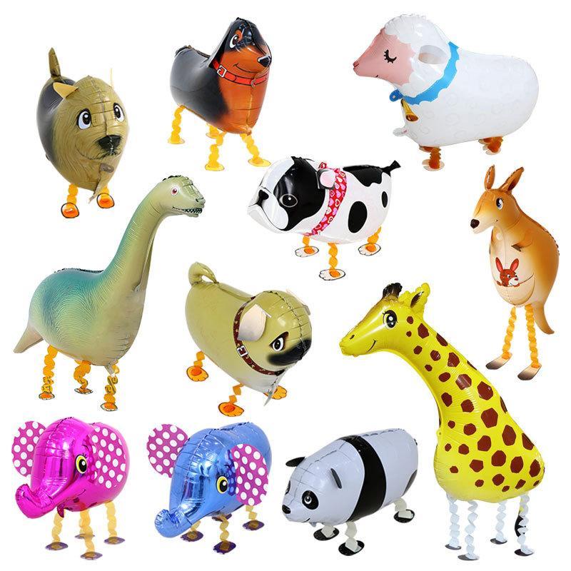 Marcher Aluminium animaux Film Ballon en forme spéciale Marche Cartoon animaux Ballon Variété de vente Pet Hot Ballon