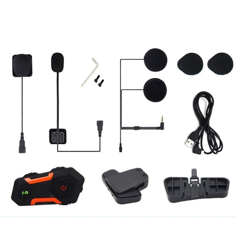 Walkie Talkie V3 Plus Interphone Motorrad Helm Intercom Wireless Bluetooth Headset Wasserdicht FM RAIDO
