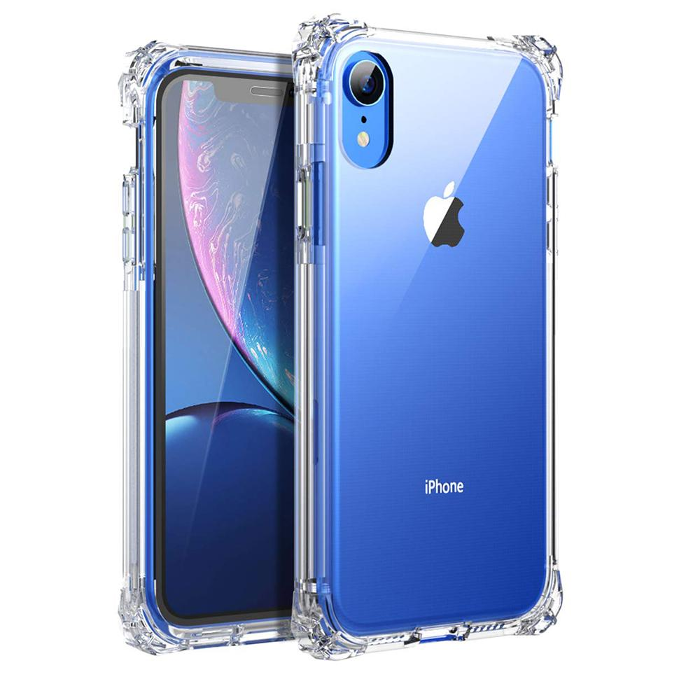 XR Clear Hybrid Dual Layer Antifurt Protector Protector Protector Cover per iPhone XS max