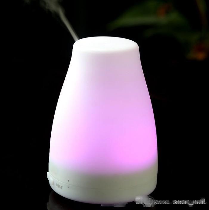 100ml esansiyel yağ difüzör nemlendirici Aroma Nemlendirici 7 Renkli LED Gece Işığı Yayıcı Ultrasonik Mist Taze Hava Aromaterapi LLFA Soğuk