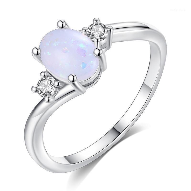 Squisita Bianco Crystal Bridal Wedding Anello Bianco Pietra Anello di fidanzamento Accessori San Valentino gioielli regalo1