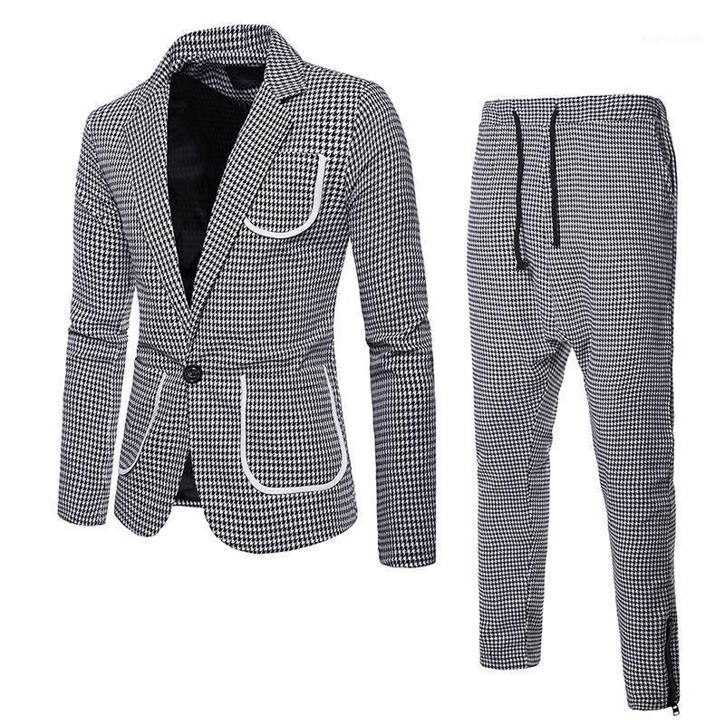 Herbst- und Wintermänner tragen großen Körper Single Button Herren Revers Anzug Herren Anzüge mit Pants1