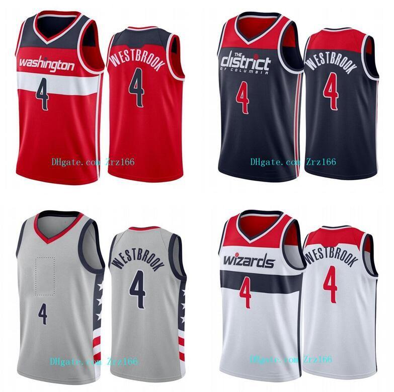 Uomini Basket Balissimo Team di WashingtonCity 4 Westbrook Black Red White 2020-21 City Jersey