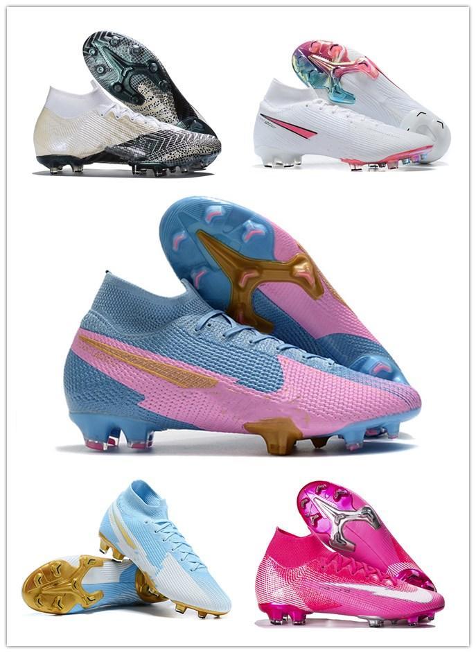 جديد mercurial superfly vii 7 أحذية كرة القدم أحذية رجالي كرة القدم cr7 360 النخبة se fg cr7 سفاري روزا النمر رونالدو كرة القدم المرابط