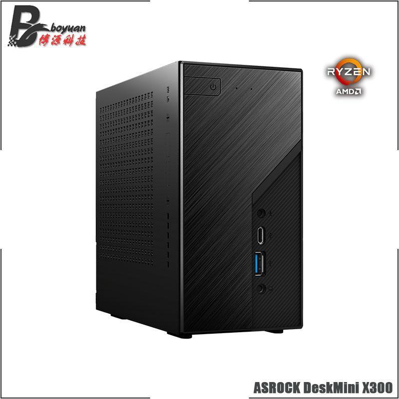 Asrock Deskmini X300 Mini Catx Case и материнской платы WiFi M.2 Stat USB3.2 [без (CPU / SSD / RAMS)] NB-RAM Socket AM4