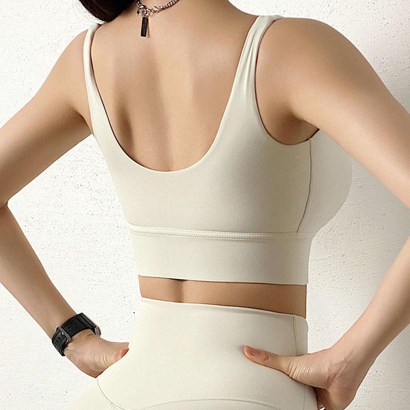 Женская нейлон Высокопрочный противоударный Бег Нижнее белье Йога Vest Top Фитнес бюстгальтер Gym тренировки ткань