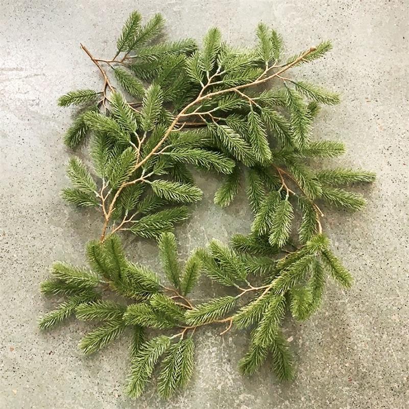 180 cm plantas artificiais plásticas videira de Natal grinalda casa decoração casamento scrapbooking flores floristiciais produtos domésticos 201128
