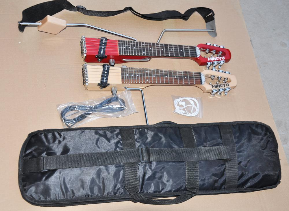 Mini Portable Travel /Children S Electric Guitar ,About 48 Cm ,Suitable For Children And Adult ,Two Colors Available