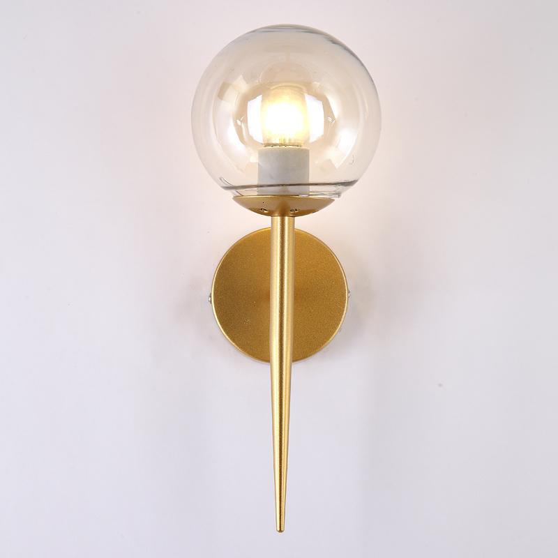Nordic Modern Wall Lamps Sconces Black/gold Decorative Night Light Pathway Staircase Bedroom Bedside Lamp E27 J4v0