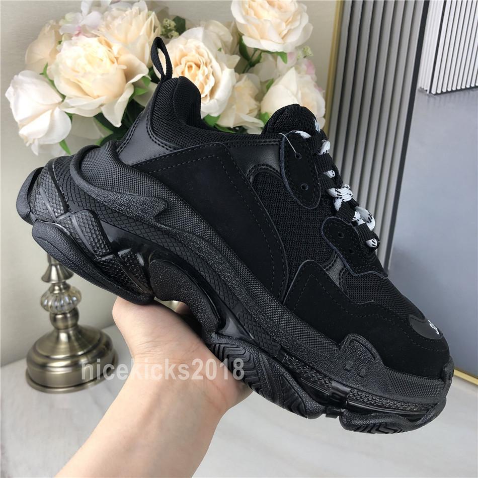 Hombres mujeres zapatos casuales paris claro suela cristal fondo triple-s zapatos de ocio papá zapatos plataforma triple zapatillas de deporte neón verde